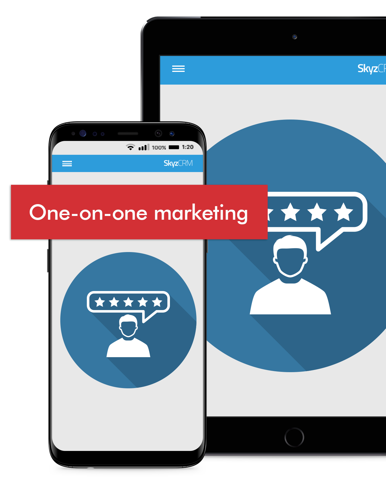 One on one marketing with Skyz CRM