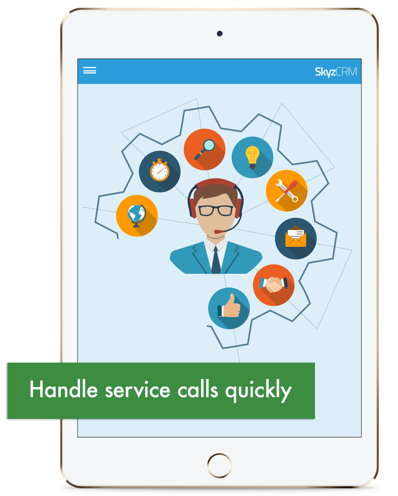 Service calls management with Skyz CRM