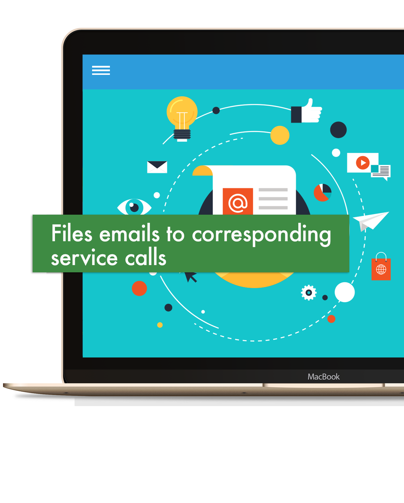 Email integration with Skyz Service