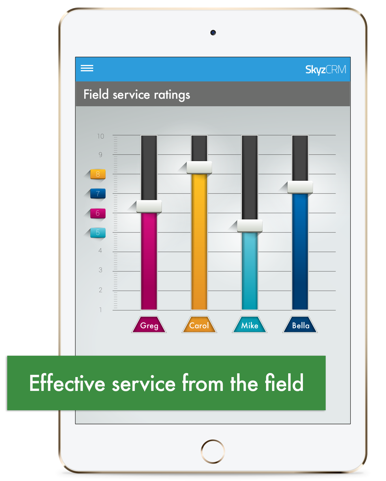 Field based service with Skyz CRM