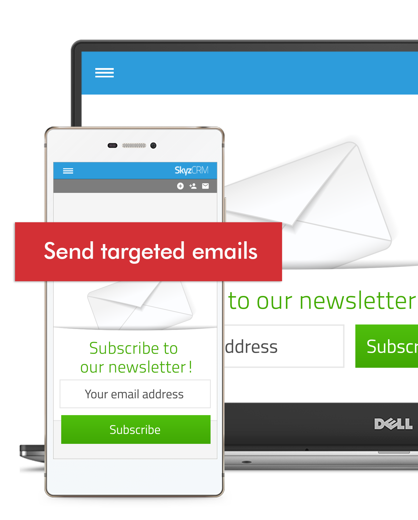 Email campaign with Skyz CRM
