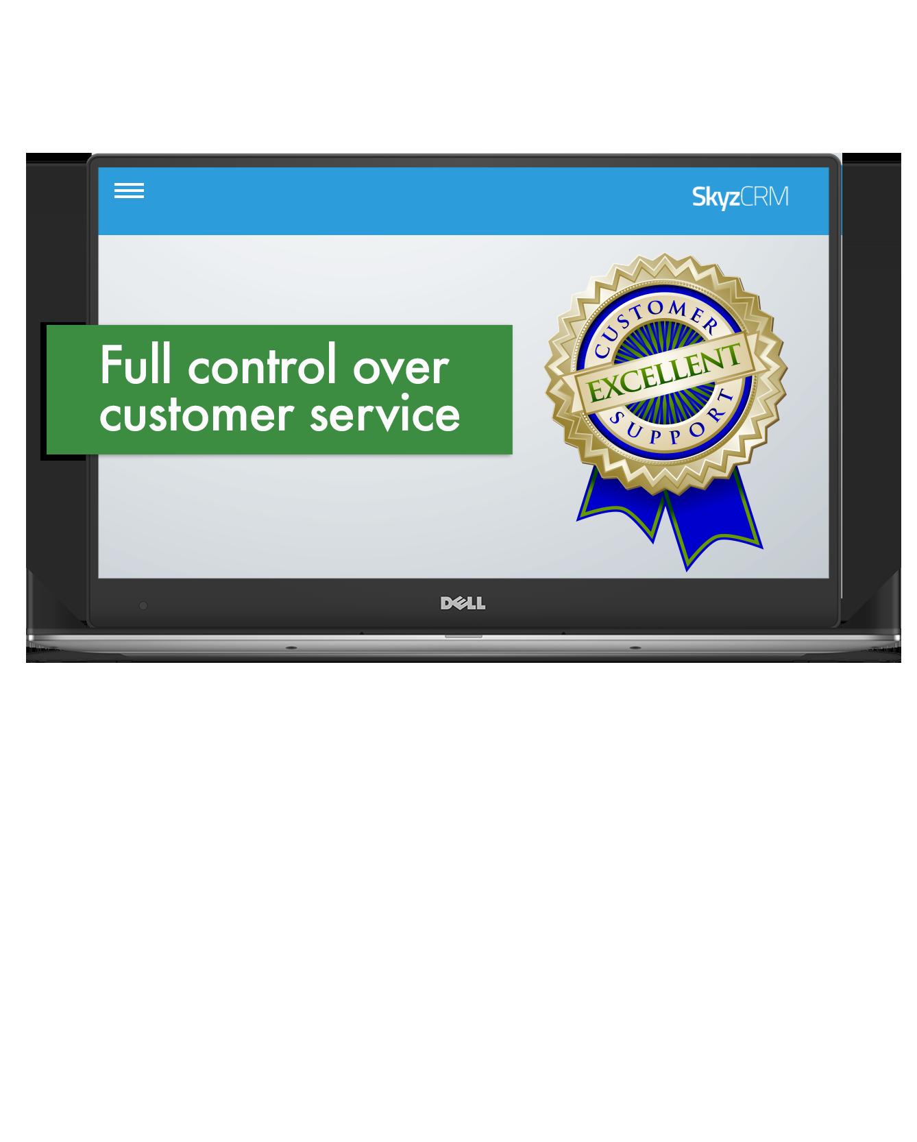 Customer service control with Skyz CRM