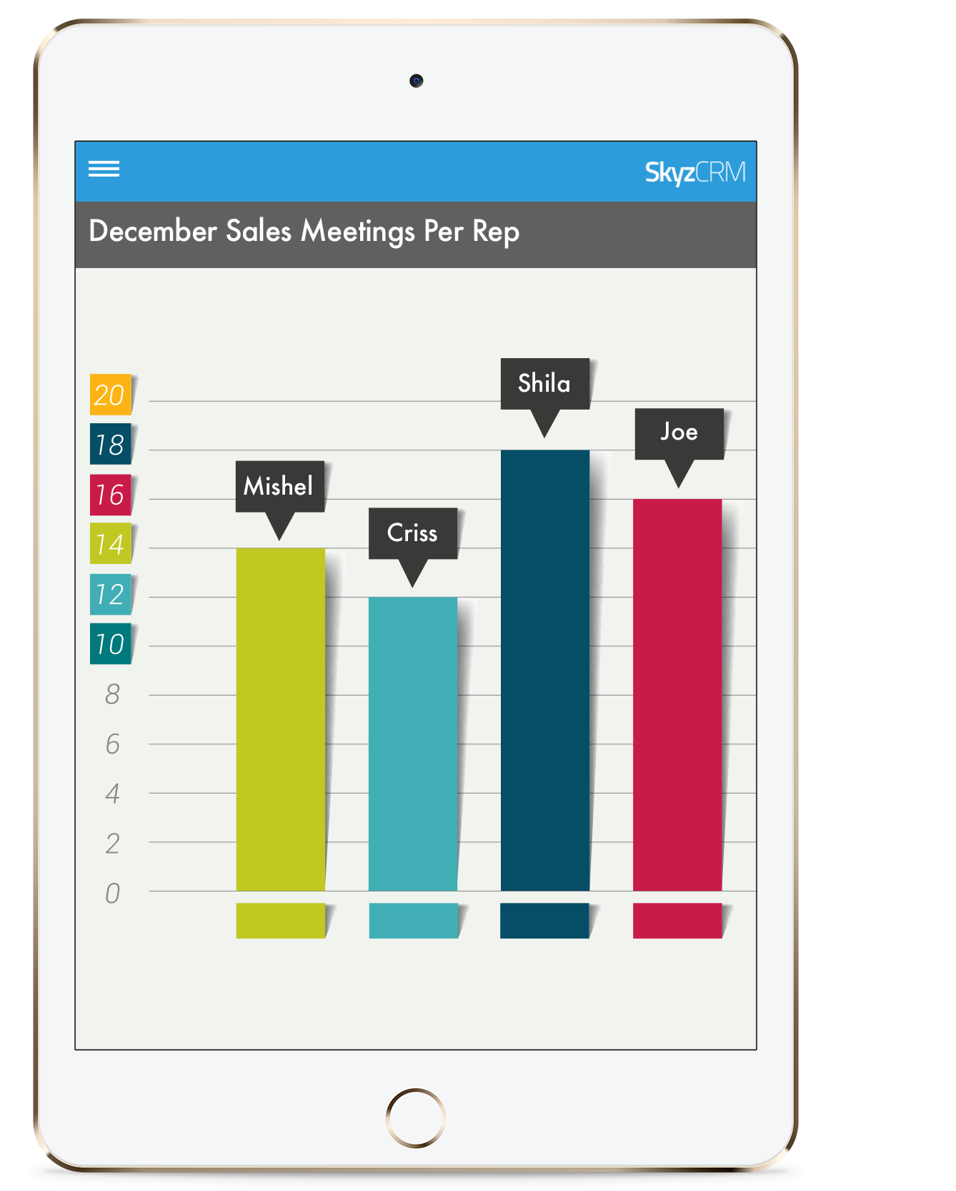 Sales meetings management with Skyz CRM