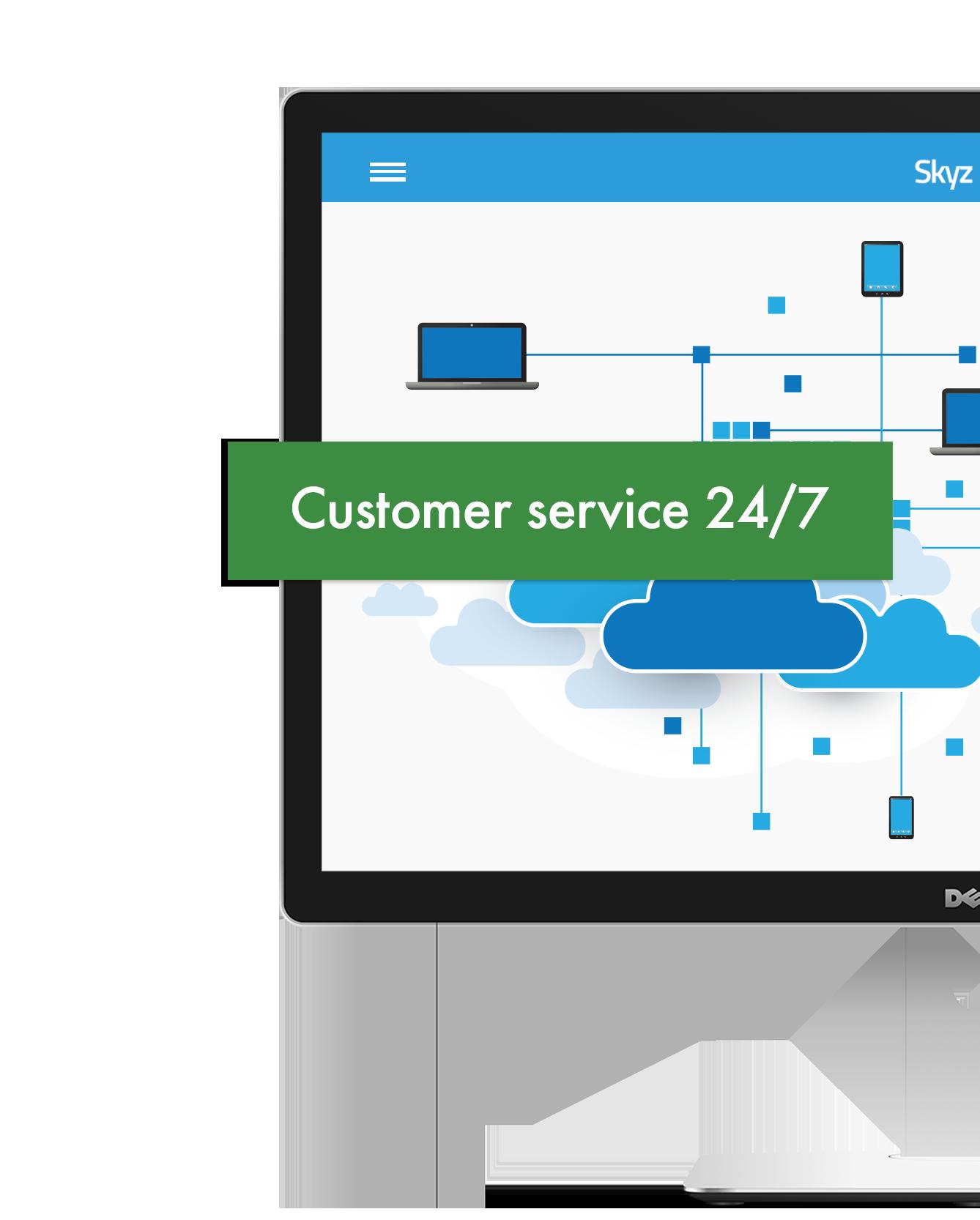 Skyz Service cloud technology