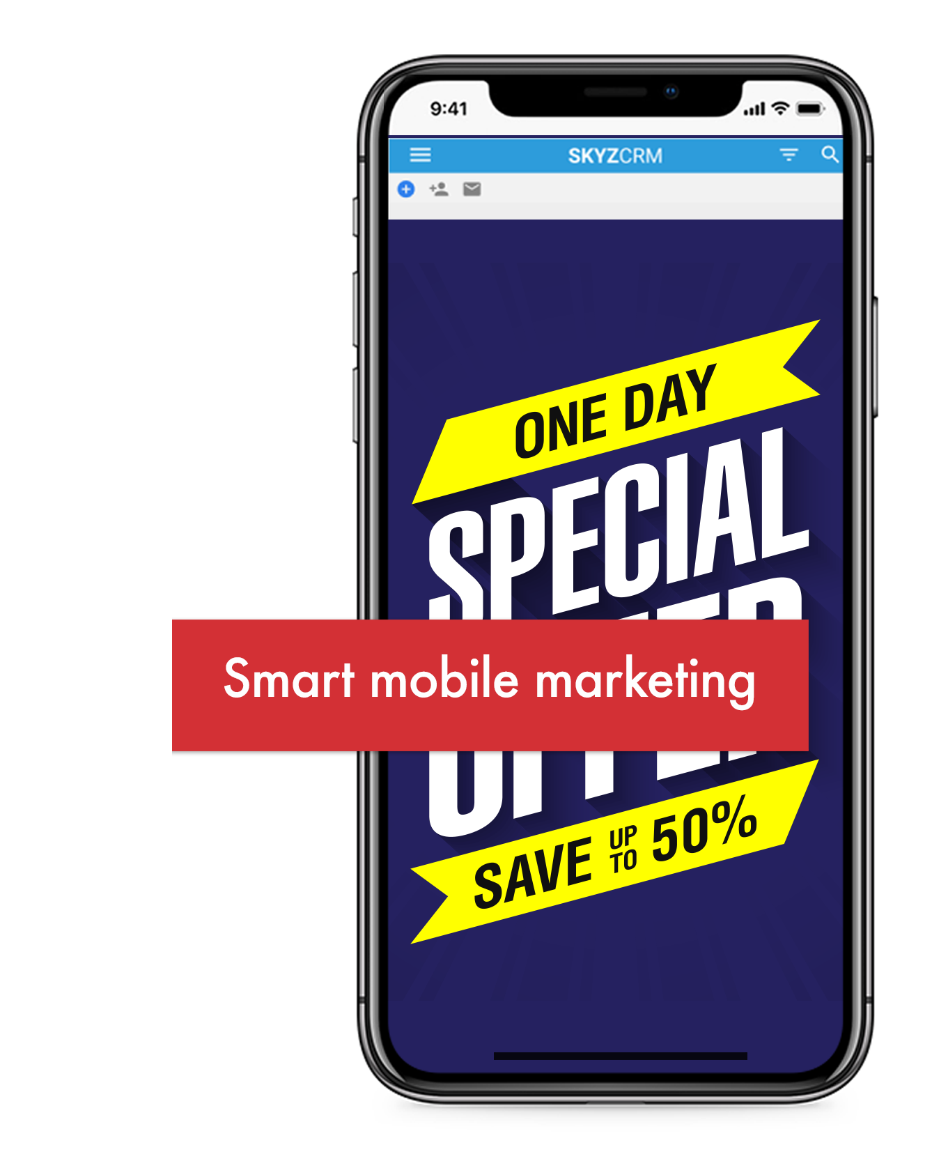 Mobile campaign with Skyz CRM